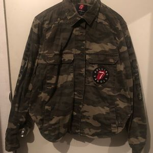 Forever 21 x The Rolling Stones Camo jacket